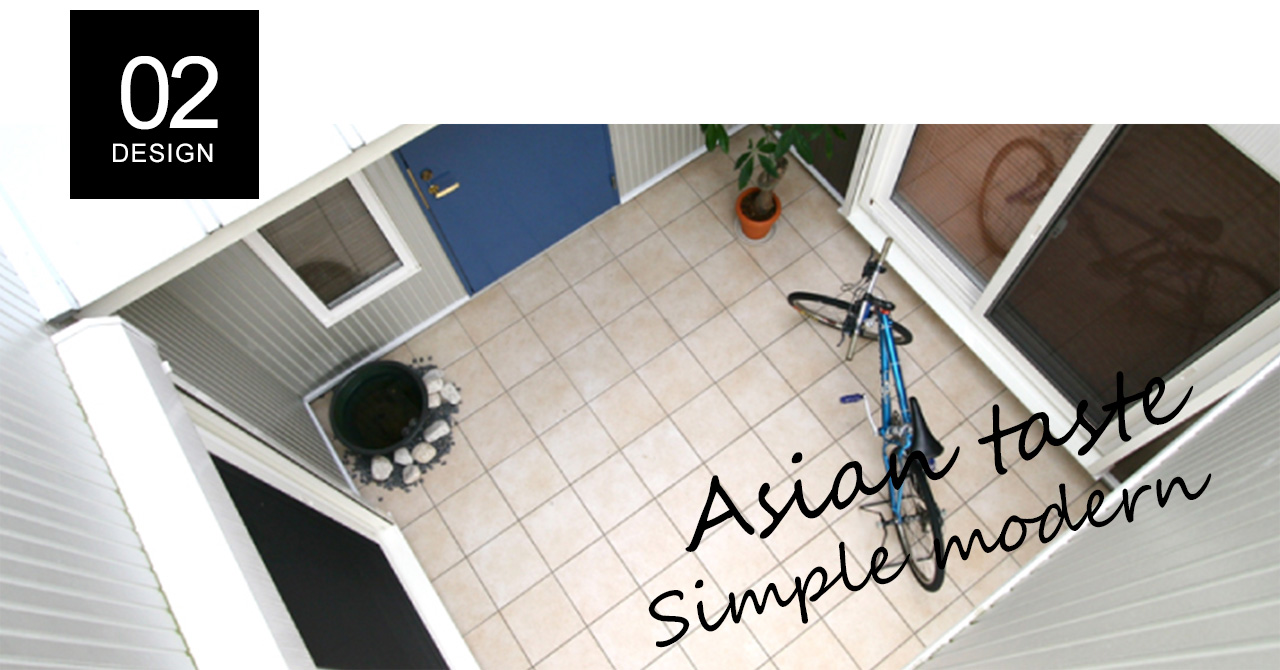 アジアンテイストに癒されるシンプルモダンな家
