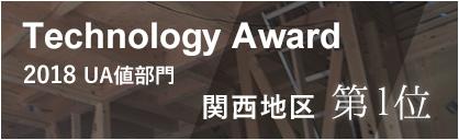 Technology Award2019|Ua値_関西地区第一位